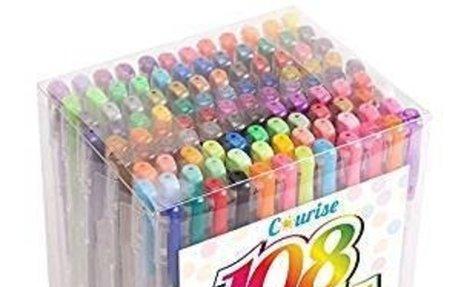 Amazon.com: Courise 108 Unique Colors Gel Pens Gel Pen Set For Adult Coloring books Drawin