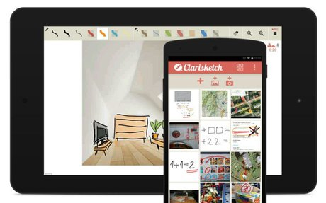 Clarisketch: Take a picture, talk and draw