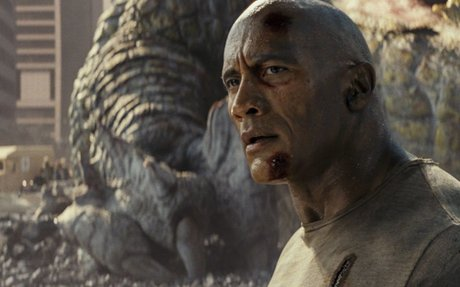 The Rock cracks wise as monsters run amok in the lunatic arcade adaptationRampage