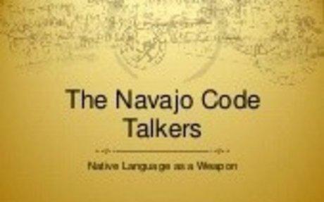 Navajo Code Talker powerpoint presentation by NNWO Executive Director Clara Lee Pratte