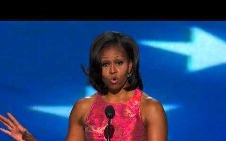 Play-Michelle Obama's speech in Charlotte