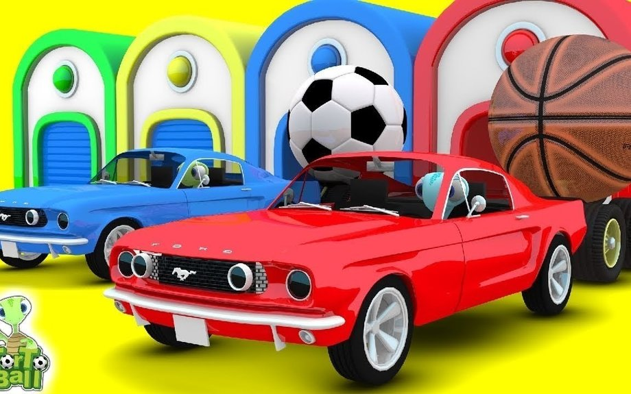 LEARN BALLS Turtle Drive Car Sport Ball Learning Basketball For Children and Kids | Torto