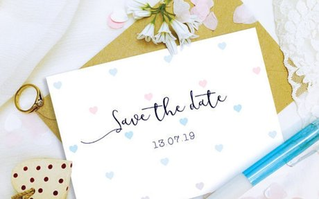 Save the date cards by UniquePlannersShop