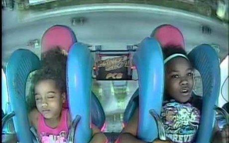 Two Girls Freak Out On Slingshot Ride