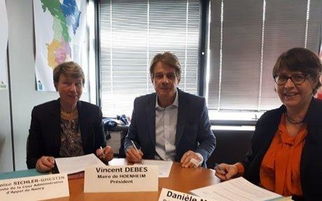 Signature d'une convention de médiation avec l'association des maires du Bas-Rhin : un maillage départemental pour la diffusion de la culture administrative de la médiation dans le Bas- Rhin.