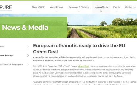 European ethanol is ready to drive the EU Green Deal
