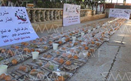توزيع وجبات إفطار على أهالي خان الشيح بريف دمشق