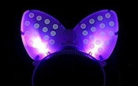 Amazon.com : DatingDay Party Bowknot Headband Glow LED Blinking Lighting Up Bow Minnie Fla