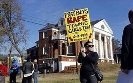 Frat brothers rape 300% more. One in 5 women is sexually assaulted on campus.