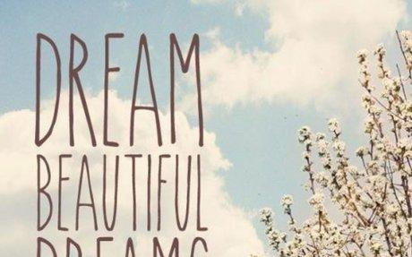 Dream Beautiful Dreams; Make Them Come True