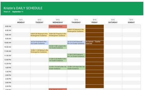 Counseling Schedule