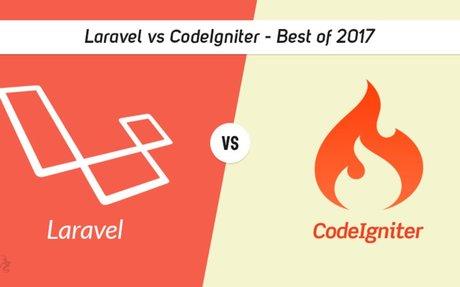 Laravel vs CodeIgniter: Best of 2017