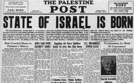 #1            State of Israel proclaimed - May 14, 1948 - HISTORY.com