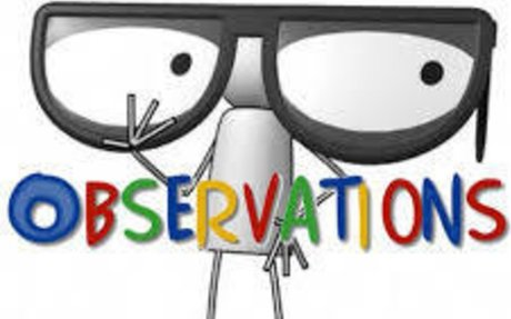 Observations!!!!!!!!!!!!!!!!!