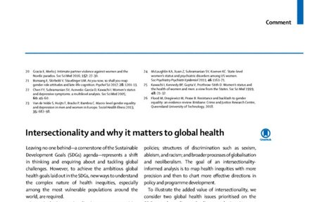 Research: Intersectionality and why it matters to global health