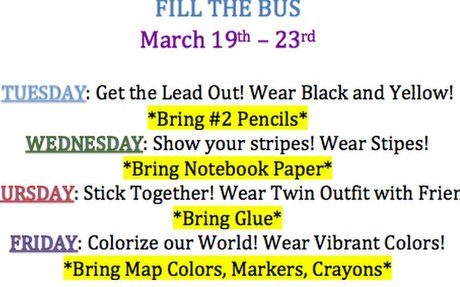 Fill the Bus 2018 Dress Up Days