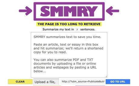 SMMRY: Summarise Everything