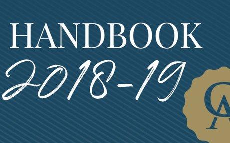 2018-19 Parent-Student Handbook Now Online