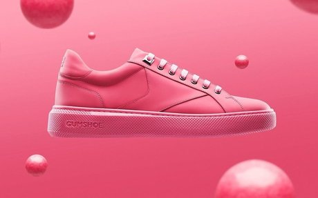 These sneakers are made from recycled chewing gum