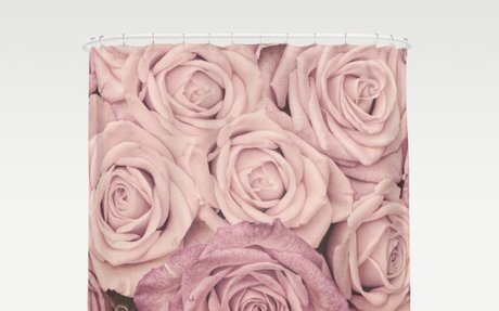 Some people grumble - Pink rose pattern- roses Shower Curtain