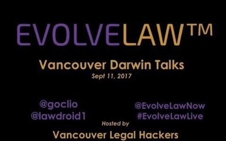 Evolve Law Darwin Talks hosted by Vancouver Legal Hackers