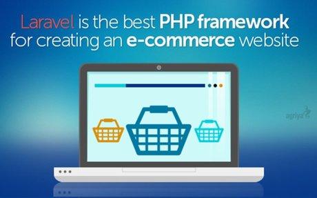 Laravel is the best PHP framework for creating an eCommerce website