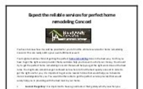 Expect the reliable services for perfect home remodeling Concord