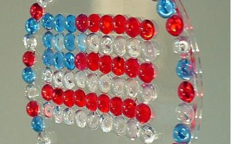 Kids Independence Day Craft - Patriotic Flag Suncatcher