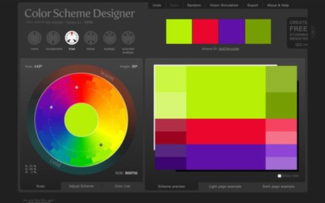 Color Scheme Designer 3 online