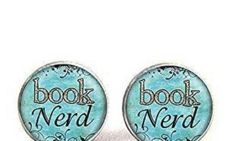 Amazon.com: Book Nerd Pendant Earrings, GlassArt Print Earrings, Charm Gifts for Her or Je