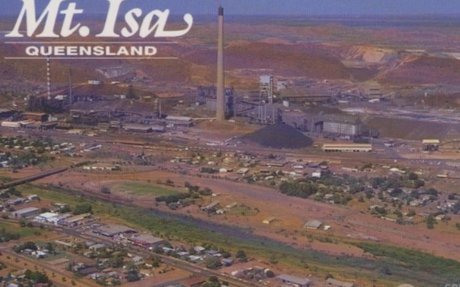 The outback Queensland city of Mount Isa, mining area, vulnerable for flash floods