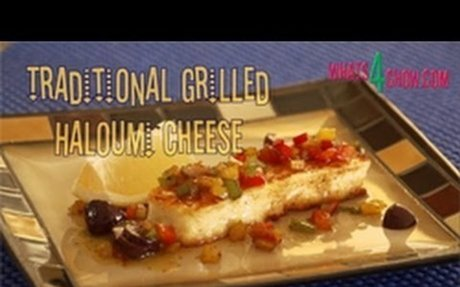 Traditional Grilled Haloumi Recipe. How to grill haloumi cheese - presented by Whats4Chow.