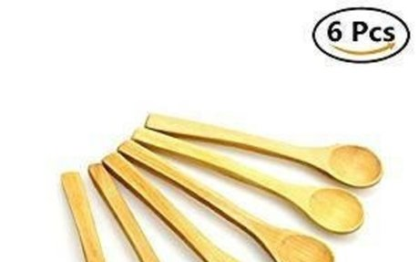 Amazon.com: 6PCS Natural Handle Bamboo Utensil Tools Spoon for Mixing Kitchen Cooking fami