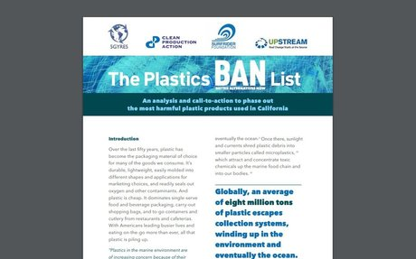 5 Gyres: The Plastics Ban List