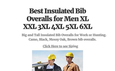 Keep warm with Big and Tall Insulated Men's Bib Overalls - Top Rated Brand Nmames