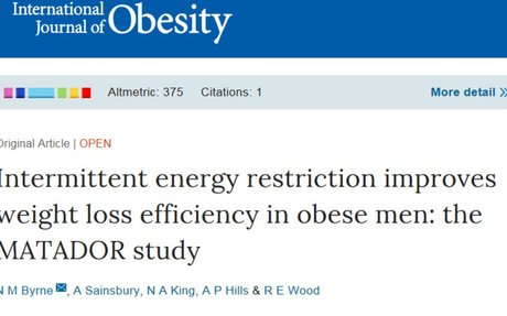 Intermittent energy restriction improves weight loss efficiency in obese men