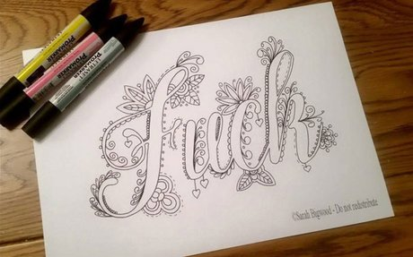Swear Word Coloring Book Will Help You Stop Swearing And Start Coloring