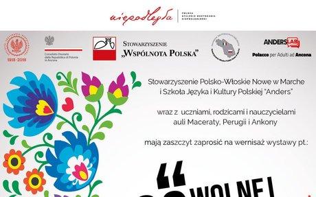 """Wystawa prac uczniów Szkoły ANDERS z Ankony, Maceraty i Perugii, pt: """"100 LAT WOLNEJ POLSK"""