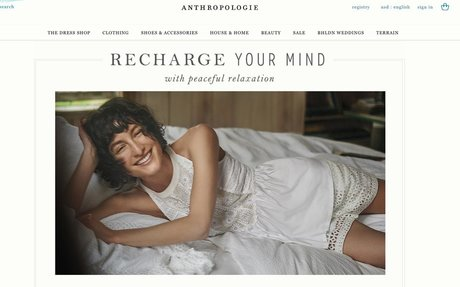 Welcome to Anthropologie Anthropologie