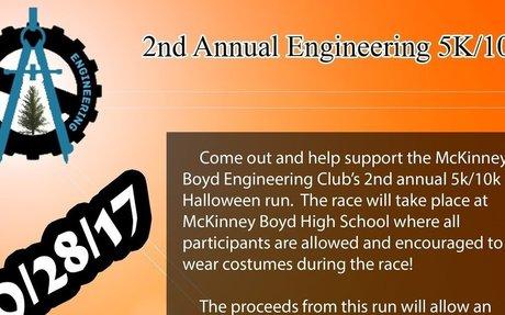 Flyer for Fun Run Engineering on 102817