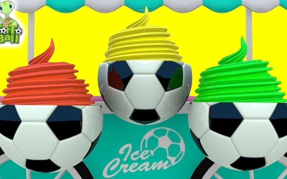 Ball Ice Cream With Turtles Cart Learn Color Football For Children and Kids | Torto Ball