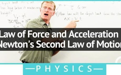 Law of Force and Acceleration - Newton's Second Law of Motion - Physics Video by Brightsto