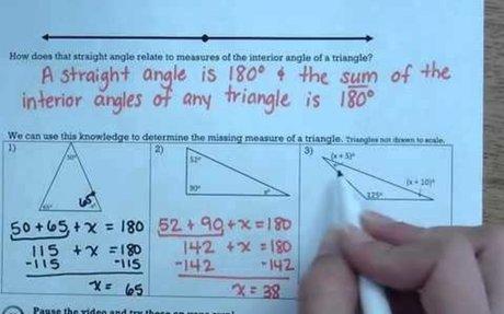 MS 8 Math Triangle Sum Theorem