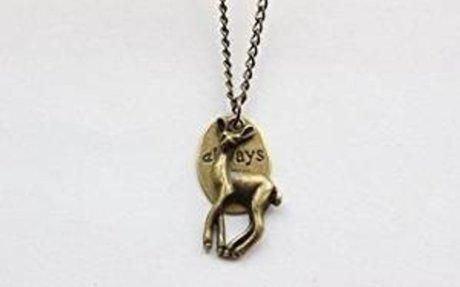 Amazon.com: Bronze Always, Deer, Heart Necklace, Necklace, Jewelry