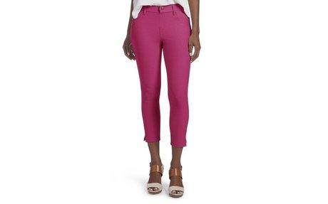HUE Women's Ankle Slit Essential Denim Capri Leggings