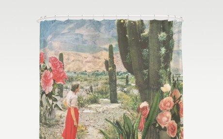 Desert Cactus Decor Shower Curtain