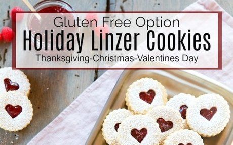 Holiday Linzer Cookies
