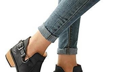 Wensy Clearance Fashion Women Boots Pointed Toe Martin Boots Classic Ankle Boots Casual Sh