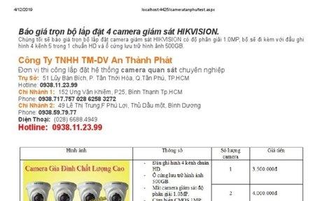 lắp camera quan sát giá rẻ giám sát qua điện thoại