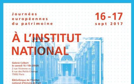 2017 - Appui à la communication de l'INHA  pour les Journées européennes du patrimoine